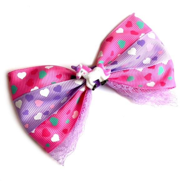 18b3ed00a7a1 Country Mermaids Accessories | Pink Purple Unicorn Hair Bow | Poshmark